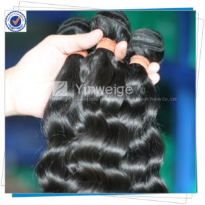 Natural Loose Wave Mongolian Unprocessed Virgin Hair Weave 100% Human Hair Bundles (MH-5A-LW)