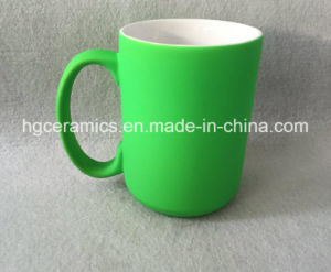 15oz Neon Color Mug, 15oz Neon Color Mug with Rubber Feel Coating pictures & photos