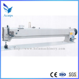 Long Arm Single/Double Needle Compound Feed Lockstitch Sewing Machine (DU4420-L40) pictures & photos