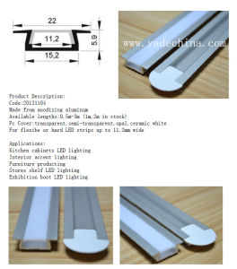 Embedded Kitchen Cabinet LED Alu Profiles for LED Strips Lighting pictures & photos