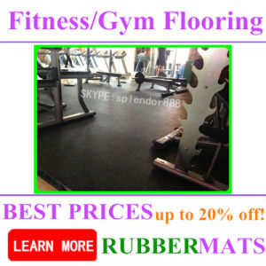 10, 15, 20, 25mm Gym Fitness Rubber Flooring pictures & photos