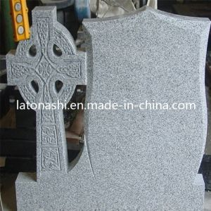 European Style Blue Pearl Granite Monument, Design Western Heart Headstone pictures & photos