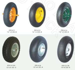 RoHS, PAHs Standard High Quality Rubber Wheel and PU Foam Wheel, OEM Available pictures & photos