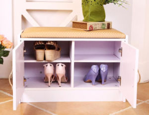 Solid Wooden Shoe Rack Wooden Cabinet (M-X2100) pictures & photos