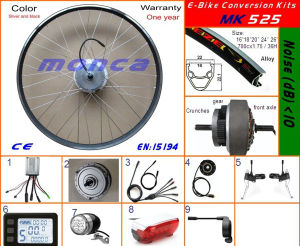 250W High Speed Brushless Gear DC Hub Motor Electric Bike Conversion Kit pictures & photos