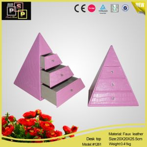 Pink Store Package Triangle Pink Jewelry Cabinet (1261) pictures & photos