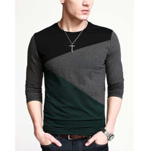 Custom Top Quality Stitching Color Fashion Men T-Shirt pictures & photos