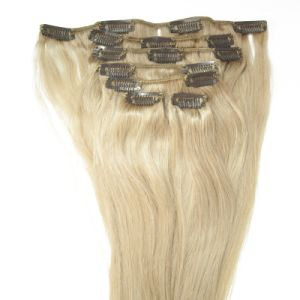 Double Drawn Human Remy Clip in Hair Extension pictures & photos