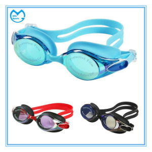 Myopia OEM Swimming Products Sports Eyewear Silicone Goggles pictures & photos