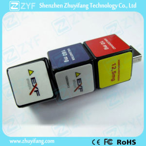 Plastic Cuboid Combination Lock Shape USB Flash Drive (ZYF1817)