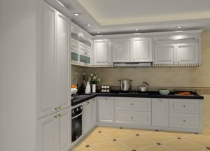 Modern Grey Industrial Matte Lacquer Wooden Kitchen Cabinet Furniture pictures & photos