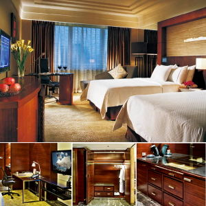 Wooden Customized Commercial Hotel Bedroom Furnture