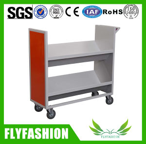 Moving Metal Double Face Library Book Trolley for Sale (ST-29) pictures & photos