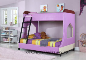 Pink PVC Purple Children Student Home Bed Kids Dormitory Furniture pictures & photos
