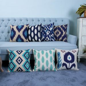 Digital Print Decorative Cushion/Pillow with Ikat Geometric Pattern (MX-22) pictures & photos