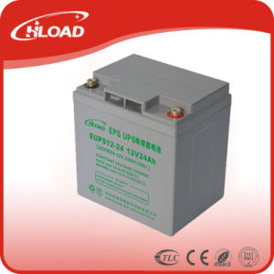 12V 24ah Deep Cycle AGM Lead Acid Battery for Solar pictures & photos