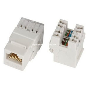 UTP Cat. 6 180 Degree RJ45 Keystone Jack pictures & photos