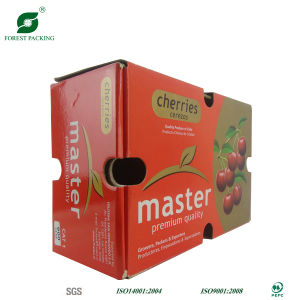 Glossy Lamination Corrugated Paper Master Carton Box for Cherry Packaging pictures & photos