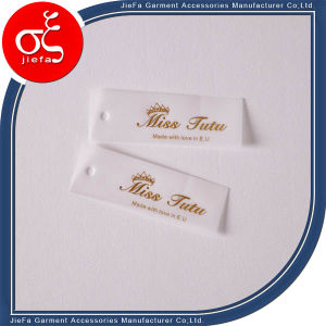 Custom Logo Printed Parchment Paper Hang Tag/Swing Tag for Colthing pictures & photos
