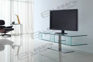 2013 Modern Curved Glass TV Stand/TV Cabinet -T037 pictures & photos