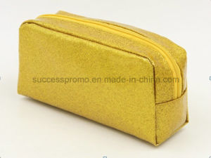 Gold Powder Effect PVC Toilet Cosmetic Bag for Promotional Gift pictures & photos
