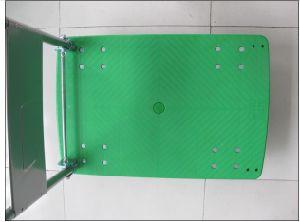 150kg Green Plastic Platform Folding Hand Cart pictures & photos