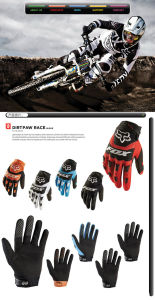 Fashion Anti Slip Stretch Lycra Bicycle Sports Racing Gloves pictures & photos