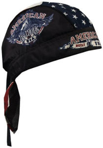 Custom Made Logo Printed Cotton Black Sports Biker Cap Bandana Headwrap pictures & photos