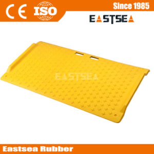 Yellow Trench Cover Lightweight Wheelchair Portable Curb Ramp pictures & photos