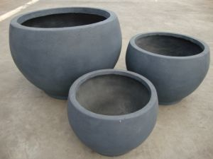 Fibreclay Large Round Flower Pot for Garden Decoration