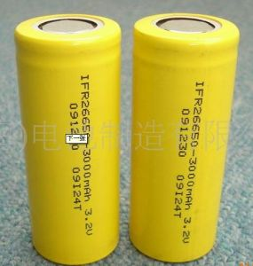 High Capacity 26650 LiFePO4 Lithium Li Ion Battery Cell pictures & photos