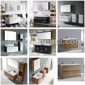 N&L 2017 New Modern PVC Oak Bathroom Cabinet Furniture with Mirror pictures & photos