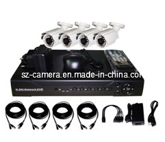 "4CH DVR Kits +600tvl 1/3"" Sharp 960h CCD Outdoor Cameras pictures & photos"
