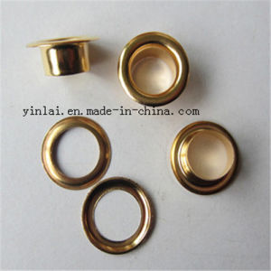 Gold Shiny Brass Custom Eyelets for Shoe