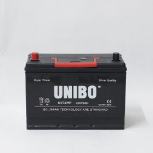 Car Battery  Auto Battery JIS Standard N70z Mf 12V75ah High Performance pictures & photos