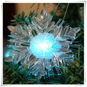 Fiber Optic Snowflake Christmas Light (VL15007)
