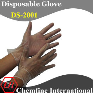 CE/ ISO Approved Hyaline Powdered Vinyl Disposable Glove with Rolled Cuff/ En420; En455 pictures & photos