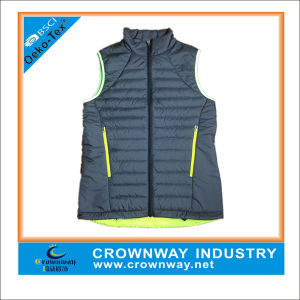 Mens Sleeveless Grey Puffer Down Vest pictures & photos