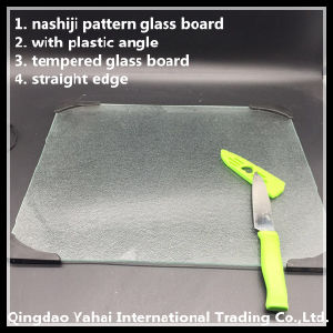 4mm Nashiji Pattern Glass Placemat with Plastic Angle pictures & photos