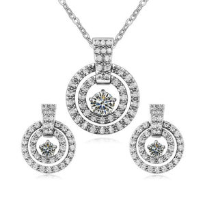 High Quality Silver Alloy Girl′s Costume Jewelry Set