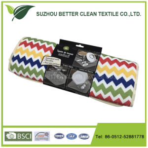 Microfiber Stripe Dish Dry Mat