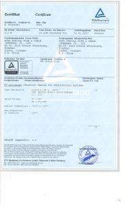 Solar PV Cable (1X150sqmm) with TUV Certificate pictures & photos