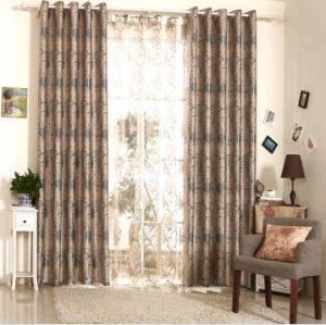 Simple Style Yarn Dyed Jacquard Fabric Curtain (MX-170) pictures & photos