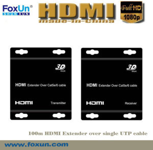 HDBaseT HDMI 100m Extender Support Cec, 3D & IR Control Over Cat5e Cable (SX-EX12)