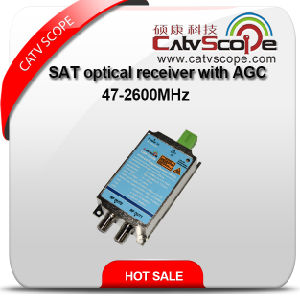 China Supplier High Performance 2way Output AGC Control CATV FTTH Mini Optical Receiver