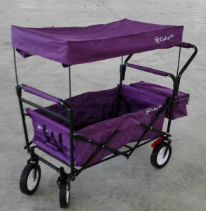 Four Wheels Folding Cart with Canopy pictures & photos