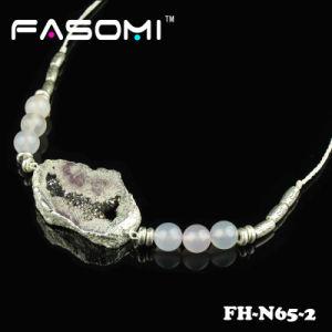 New Fashionable Druzy Stone Pandant Necklace