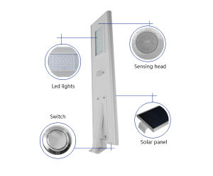 60W Solar LED Street Road Path Garden Lamp Light with 3 Lighting Class pictures & photos