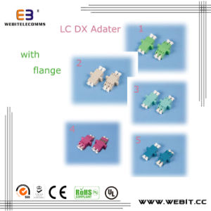 Fiber Optic LC Dx Adapter LC Sm/Mm/APC/Om3/Om4 Dx Adapter with Flange pictures & photos