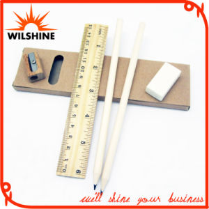 Wooden Stationery Pencil Set with Sharpener and Ruler for Promotion (MP015) pictures & photos